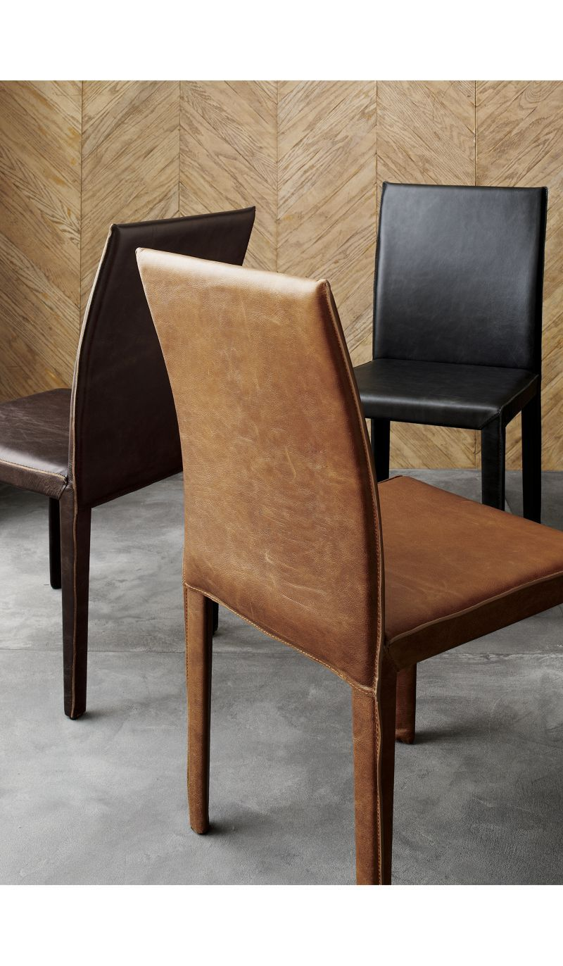 Folio Sienna Top-Grain Leather Dining Chair | Crate and ...