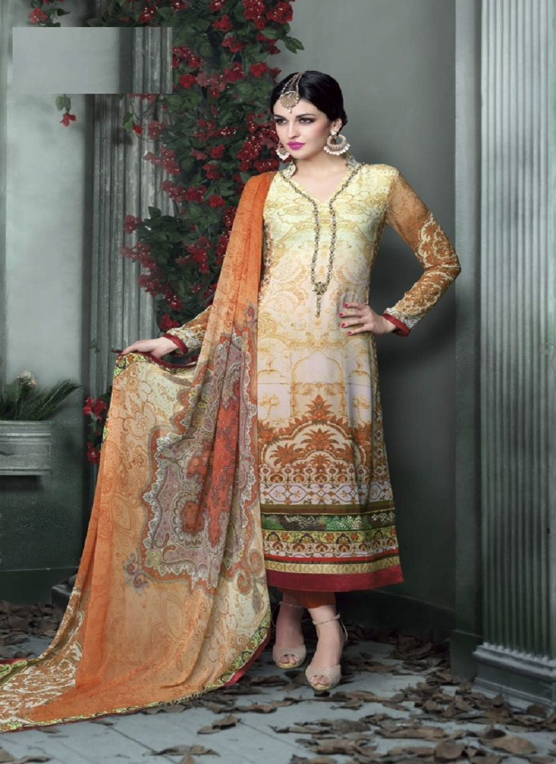 Suits cream and salwar suits on pinterest