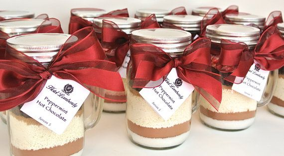 Hot Chocolate Favors In 16 Oz Mason Jar Mug 12 Cocoa Mi For Corporate Gifts Bulk Wedding Mix