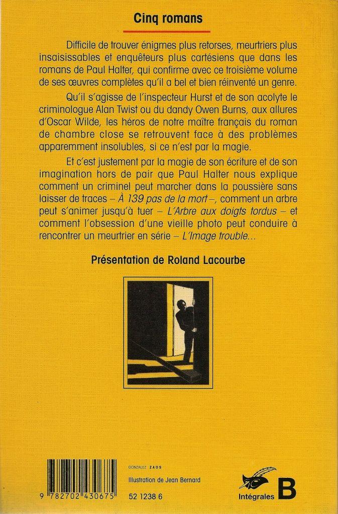 Les Intégrales du Masque - Paul Halter - Volume 3 - Verso - Novembre 2001