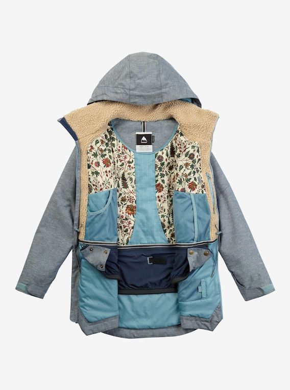 Women S Burton Prowess Jacket Shown In Chambray Womens Snowboard Jacket Skiing Outfit Snowboard Jacket