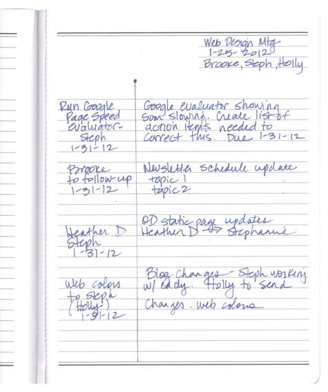 Organize Your….Meeting Notes