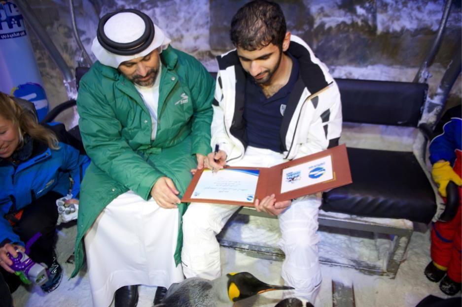 Mansoor bin Mohammed bin Rashid Al Maktoum, Ski Dubai (28/01/2012)