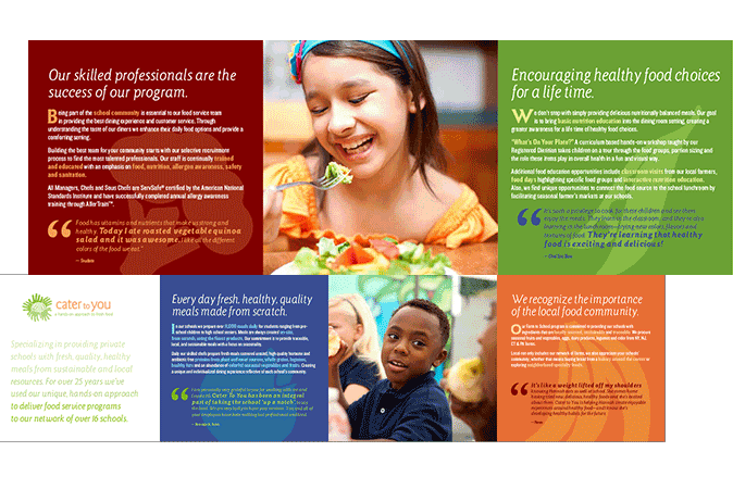 Cater To You General Promotional Brochure  Stone Soup Creative