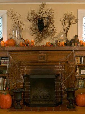 halloween decoration branch wreath all things halloween rh pinterest com