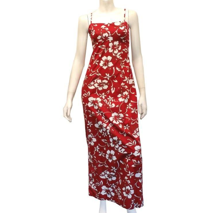 2e0d02d021a Classic Hibiscus Pareo Long Adjustable Strap Dress(tt746-p1272 ...
