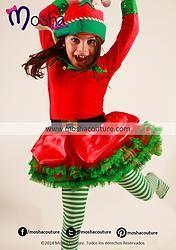 Vestido disfraz de duende para ni a curiosidades - Disfraces duendes navidenos ...