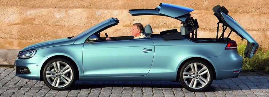 The Volkswagen Eos is a unique allseason convertible with