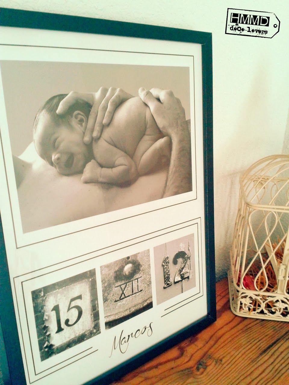 Handmademaniadecor baby deco babies and mesas - Cuadros con fotos ...