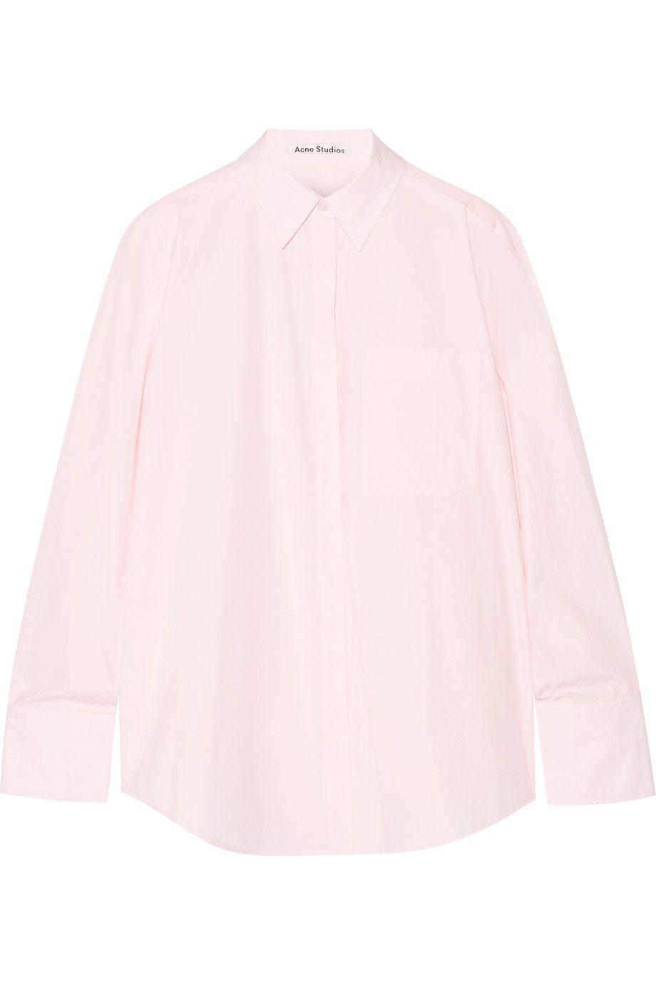 ACNE STUDIOS Addle oversized cotton-poplin shirt. #acnestudios #cloth #shirt