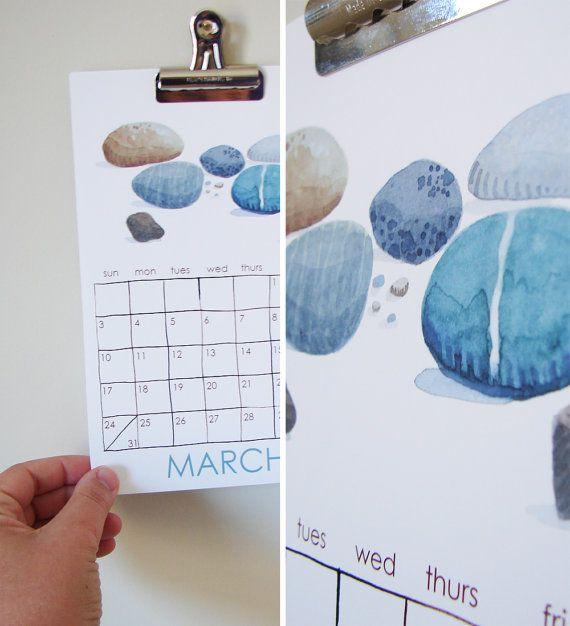Nature Calendar 2013  small illustrated wall calendar  por eggagogo, $22.00