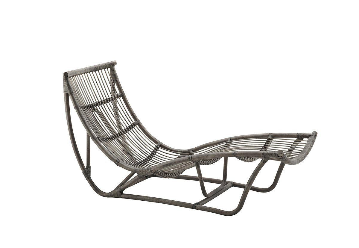 Michelangelo Chaise Lounge Taupe In 2020 Daybed Rattan Daybed
