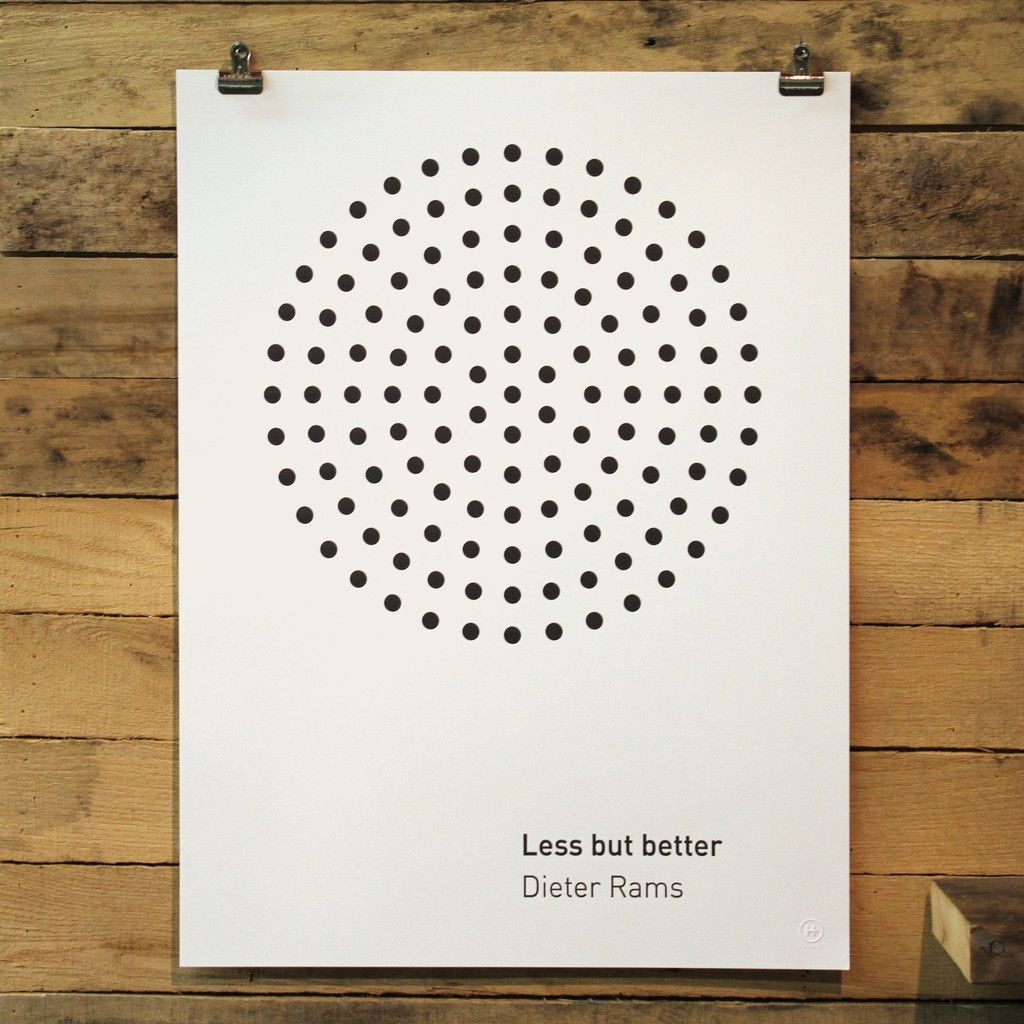 Poster design less is more - Inspired By Well Known Designer Dieter Rams Classic Circle Speaker This Poster Calls Out