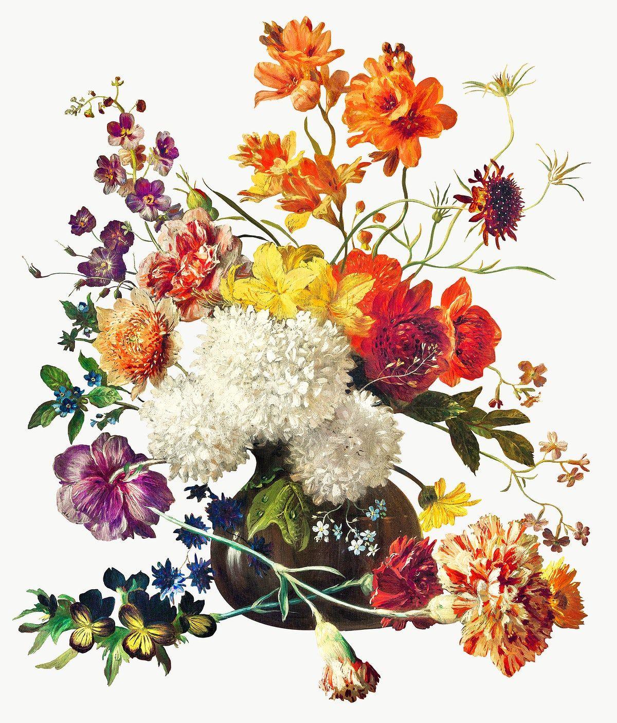 Vintage Flower Biuquet In A Vase Design Element Free Image By Rawpixel Com Nap In 2020 Flower Illustration Illustration Vase Design