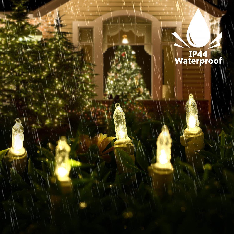 Vegahome Christmas Lights 33ft 100 Led Christmas Lights Outdoor Connectable Mini Light Set 120v Led Christmas Lights Christmas Lights Outdoor Christmas Lights