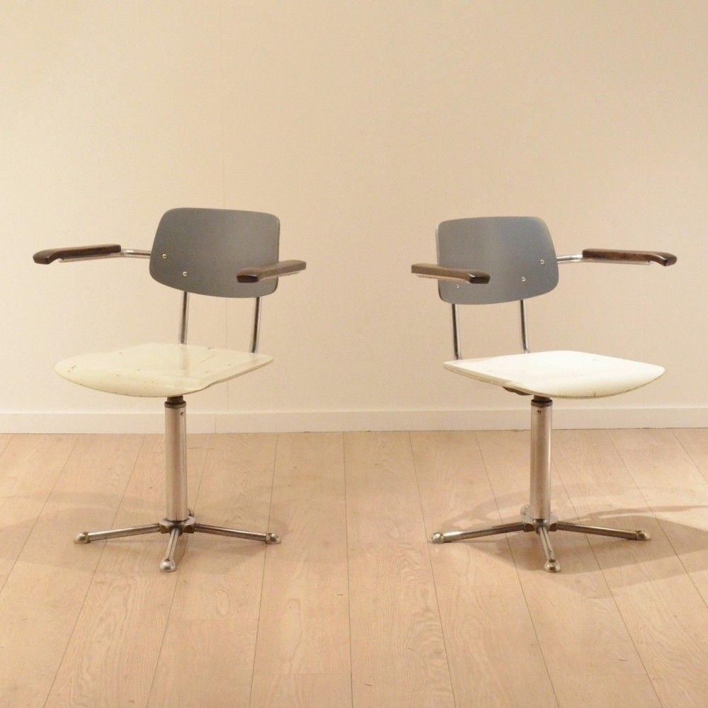 Pair of vintage office chairs, 1940s
