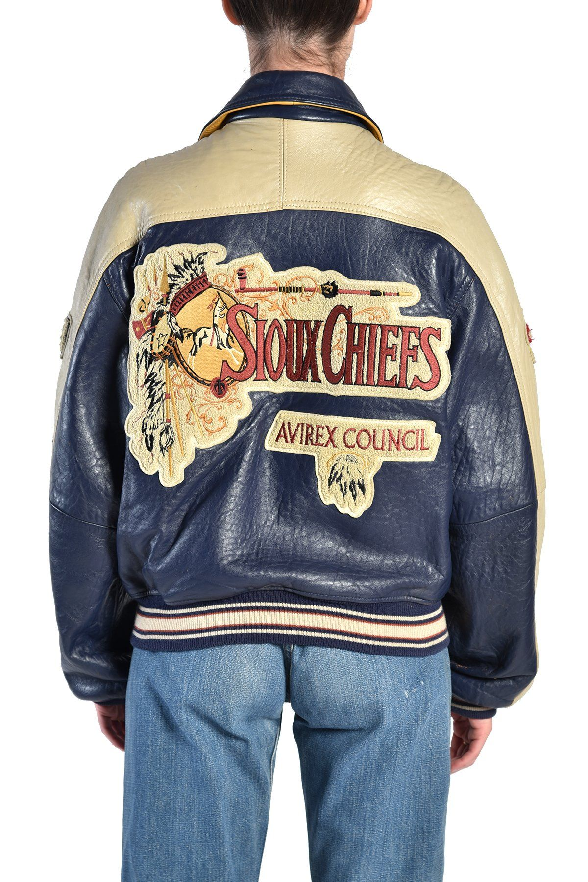 Molina Sioux Chiefs Leather Baseball Jacket Bustown Modern Leather Baseball Jacket Baseball Jacket Leather Varsity Jackets [ 1799 x 1200 Pixel ]