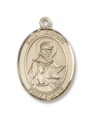 Isidore of Seville Pendant DiamondJewelryNY 14kt Gold Filled St