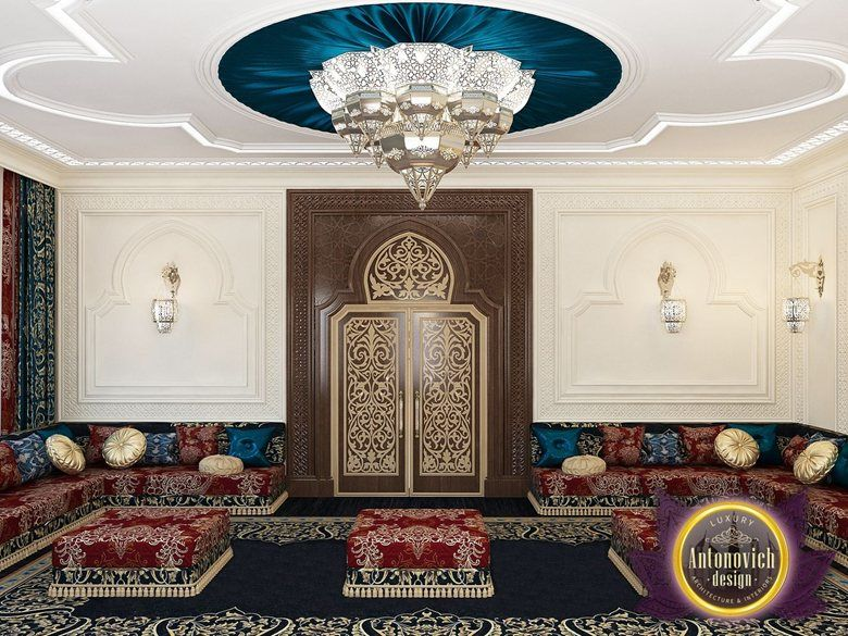 Arabic style in the interior of luxury antonovich design katrina antonovich