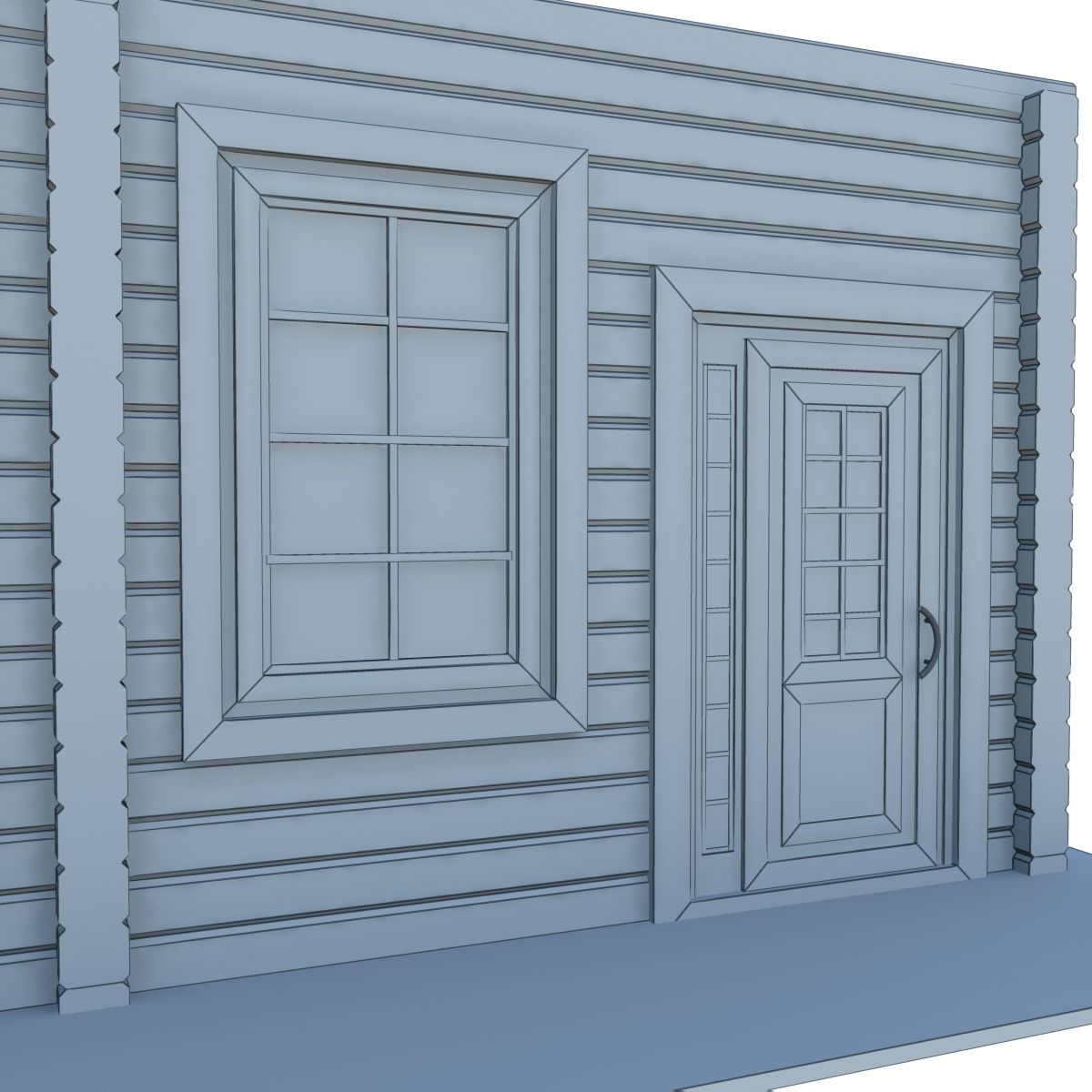 Model Of Wooden Windows And Doors Two Colors Wooden Model