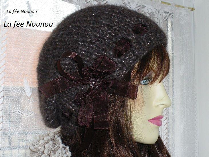 Béret Femme Tricot, Tuto Tricot Femme, Bonnet Tombant, Femme Gratuit, Bonnet  Tricot 4d4ef1e53d6