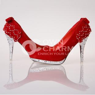Zapatos de Novia,Zapatos de novia de la boda rojos bajos para ayudar a los