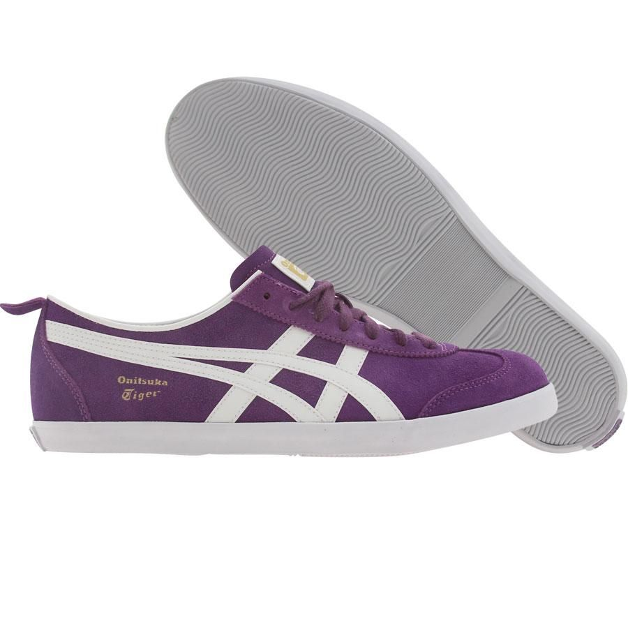 Asics Onitsuka Tiger Womens Mexico 66 Vulc SU shoes in purple and white