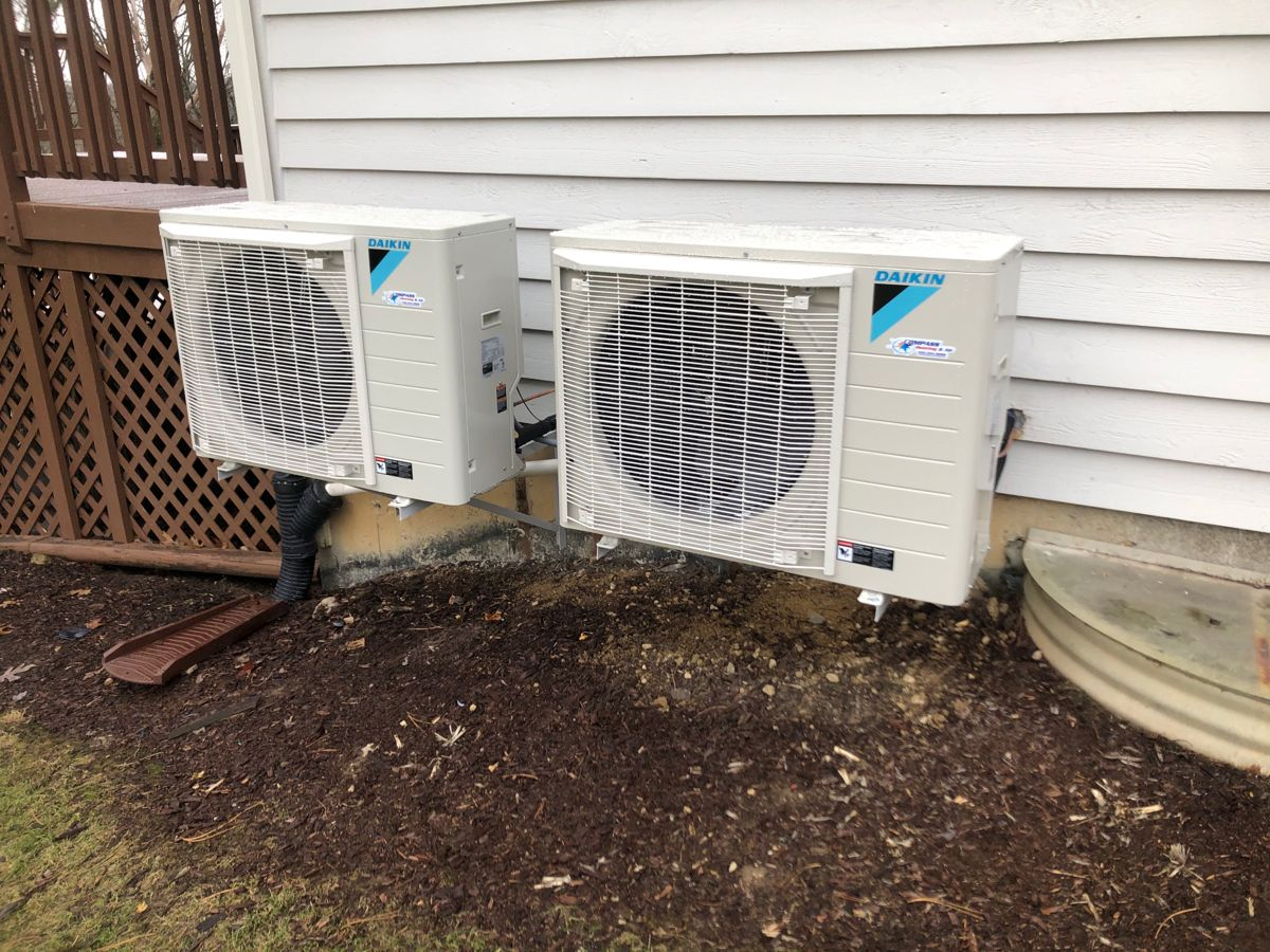 Compass Heating and Air replaced a pair of Carrier air