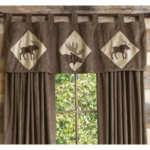 Walking Moose Valance Rustic Curtains Cabin Curtains Curtains Living Room