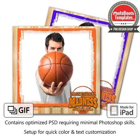 Basketball Madness Square Photo booth, Ipad photo