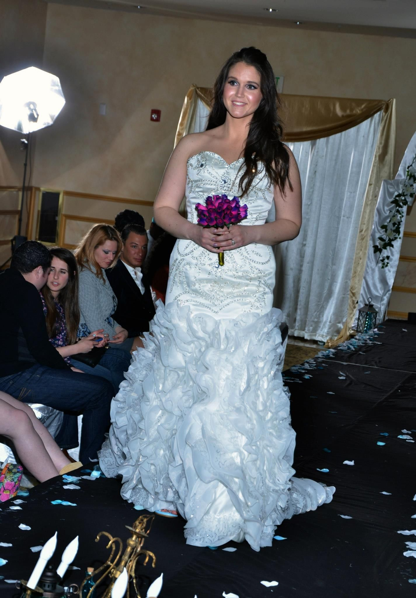 plus size bride on runway www.realsizebride.com \