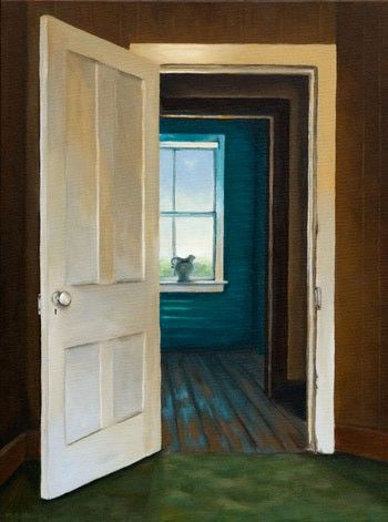 open door painting. Realistic Painting Of An Open Door By Artist Michelle Basic Hendry I