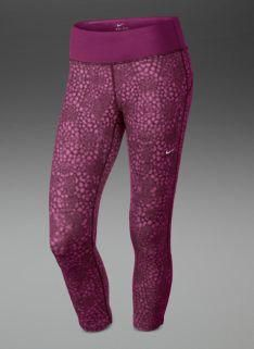 fbf8c40ede92 Nike Womens Epic Run Printed Cropped Tights - Womens Running Clothing -  Raspberry Red-Matte