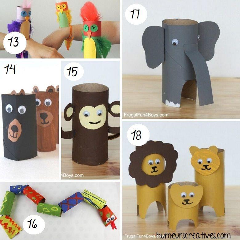 80 bricolages pour enfants à faire avec des rouleaux de papier toilette -