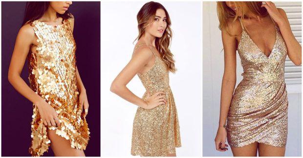 200d64d49 Vestidos dorados para lucir increíble en cualquier fiesta - Yo amo los  zapatos