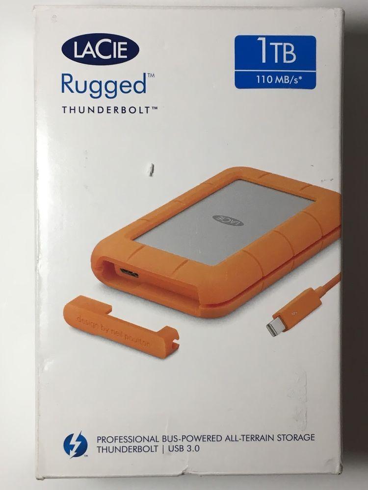 Lacie Rugged Thunderbolt 1tb Portable External Hdd Drv Steh1000400 763649080993 Lacie Hdd Usb Ebay