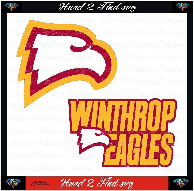 Winthrop Eagles Set College Design Teams Also Use For Cheer Teams Favorite Schools Baseball Basketball Football So Balls Quote College Logo Sports Design