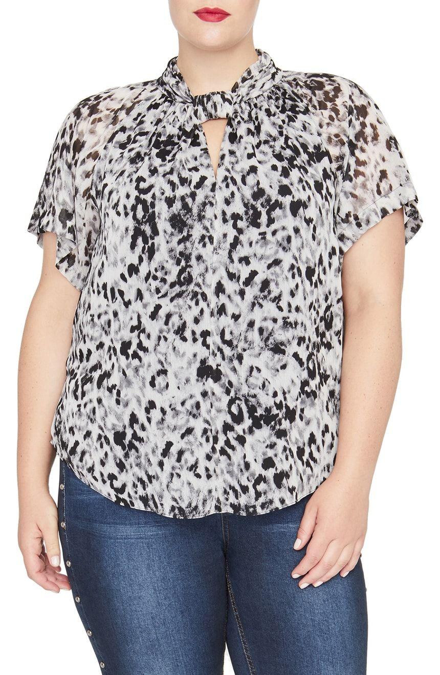 8547860283d80 RACHEL Rachel Roy Chiffon Kimono Top (Plus Size)