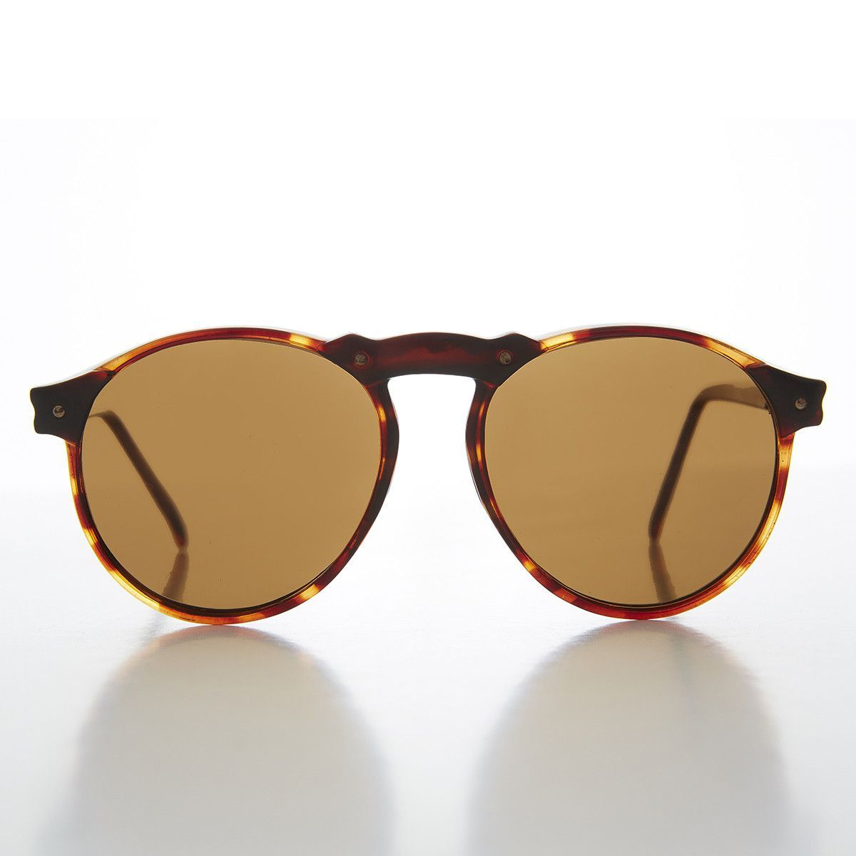 6cfd17a377e P3 Round Vintage Aviator Sunglass with High Arch NOS -TEDDY