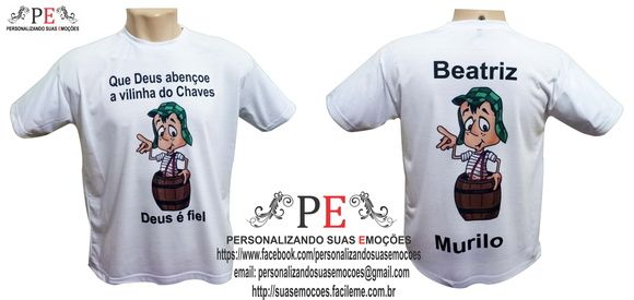 dfe4de64b Camisetas personalizadas do chaves