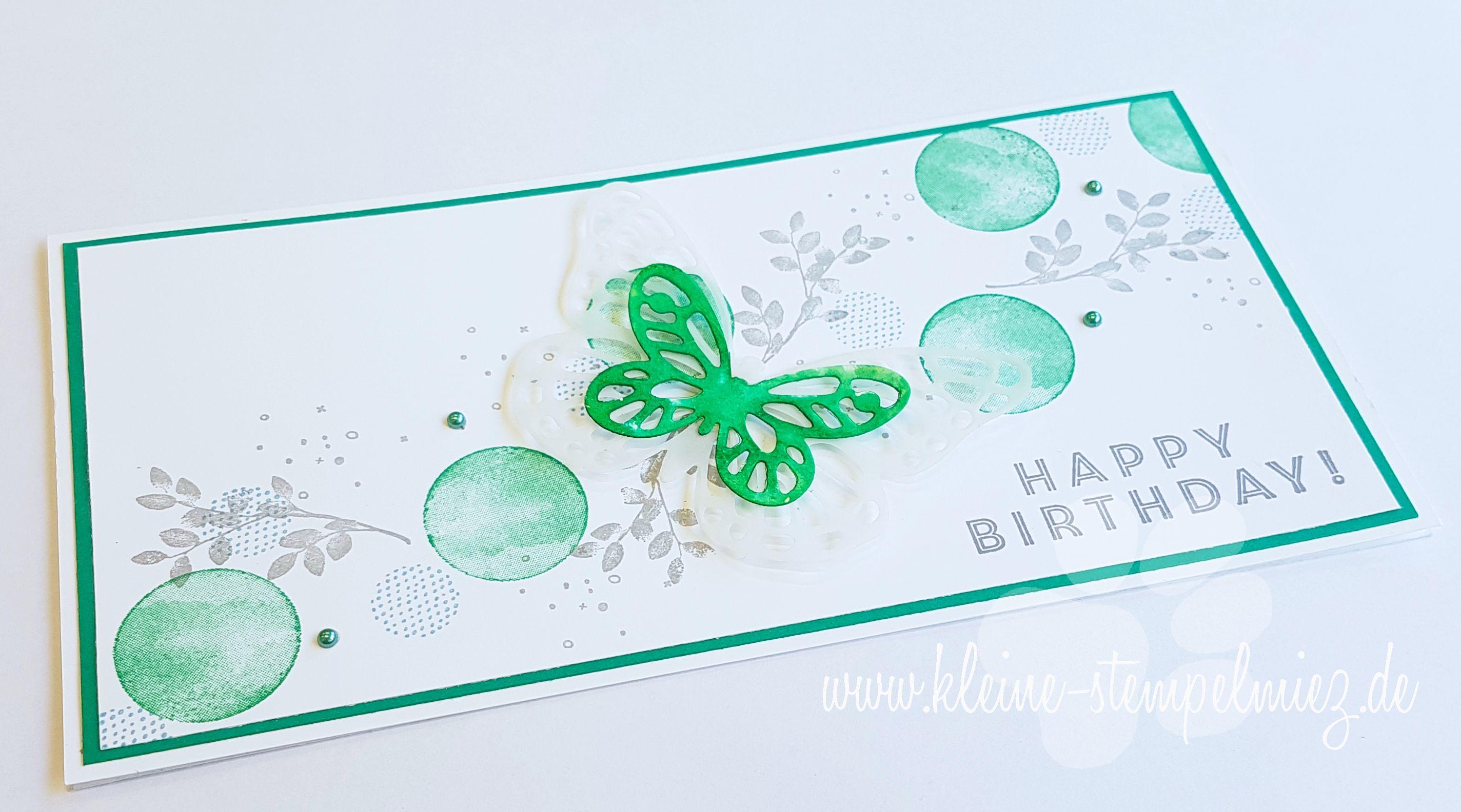 Geburtstagskarte karte in kleegrün einladungskarten heute einladungen boxen geburtstag liebe