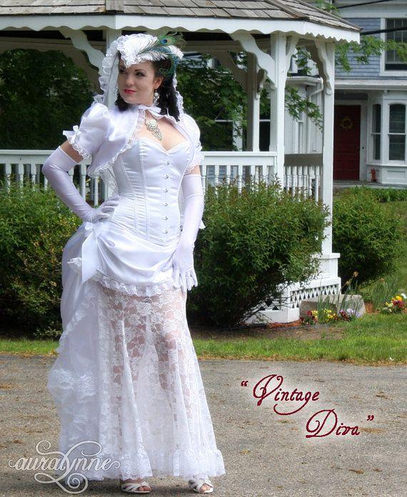 Vintage Diva Pinup Wedding Dress Made To Measure By Auralynne
