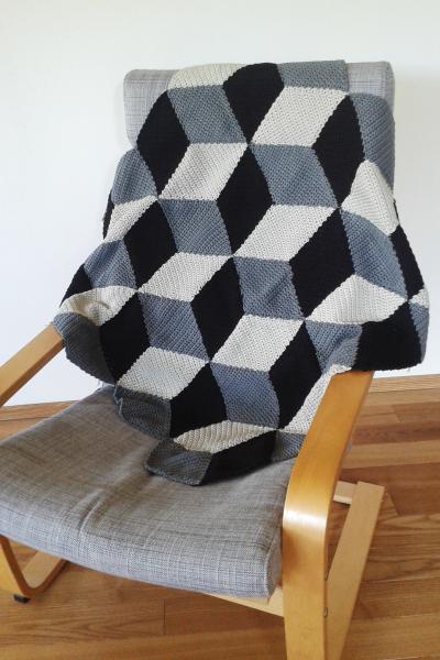 Geometrische Häkeldecke Mit 3d Effekt Coverlets Rugs Crochet