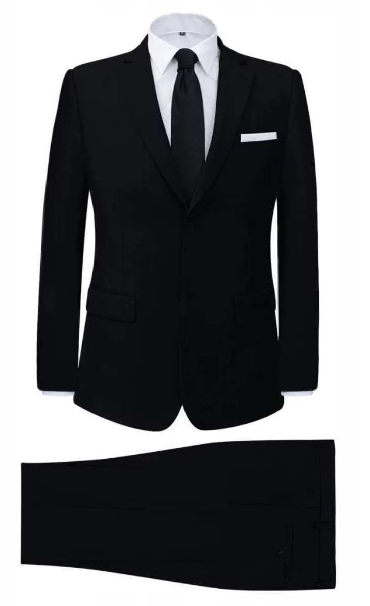 2 Czesciowy Garnitur Biznesowy Meski Czarny Rozmia 8057775441 Oficjalne Archiwum Allegro Suits Black Suits Classic Black