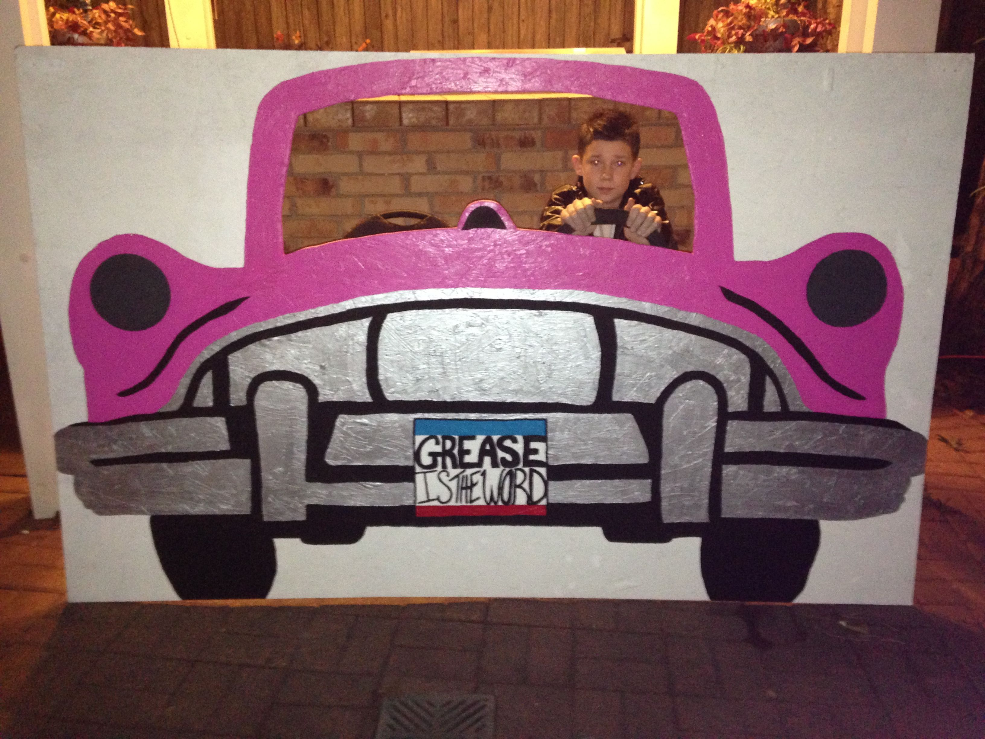 50s car photo prop grease celebrate pinterest 50s for 1950s party decoration ideas