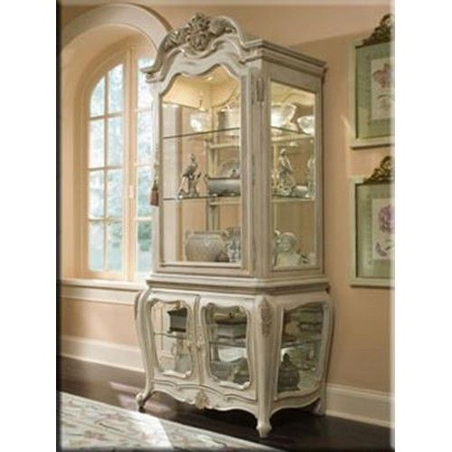 Lavelle Curio Cabinet with Three Glass Doors by Aico Amini Innovation #furniture #curio