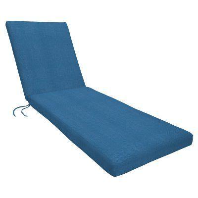 Eddie Bauer Sunbrella Chaise Lounge Cushion - Knife Edge Canvas Regatta - 11568U-E5493