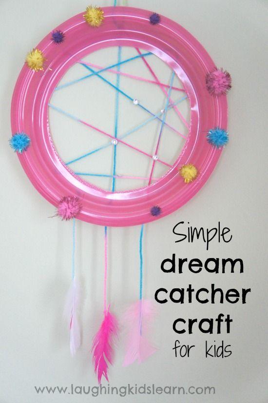 Simple dream catcher craft for kids dream catcher craft for Easy to make dream catchers