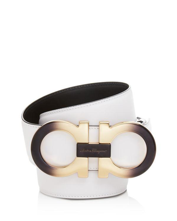 Salvatore Ferragamo Calfskin Belt with Extra Large Double Gancini Buckle 82b2bd7139b1