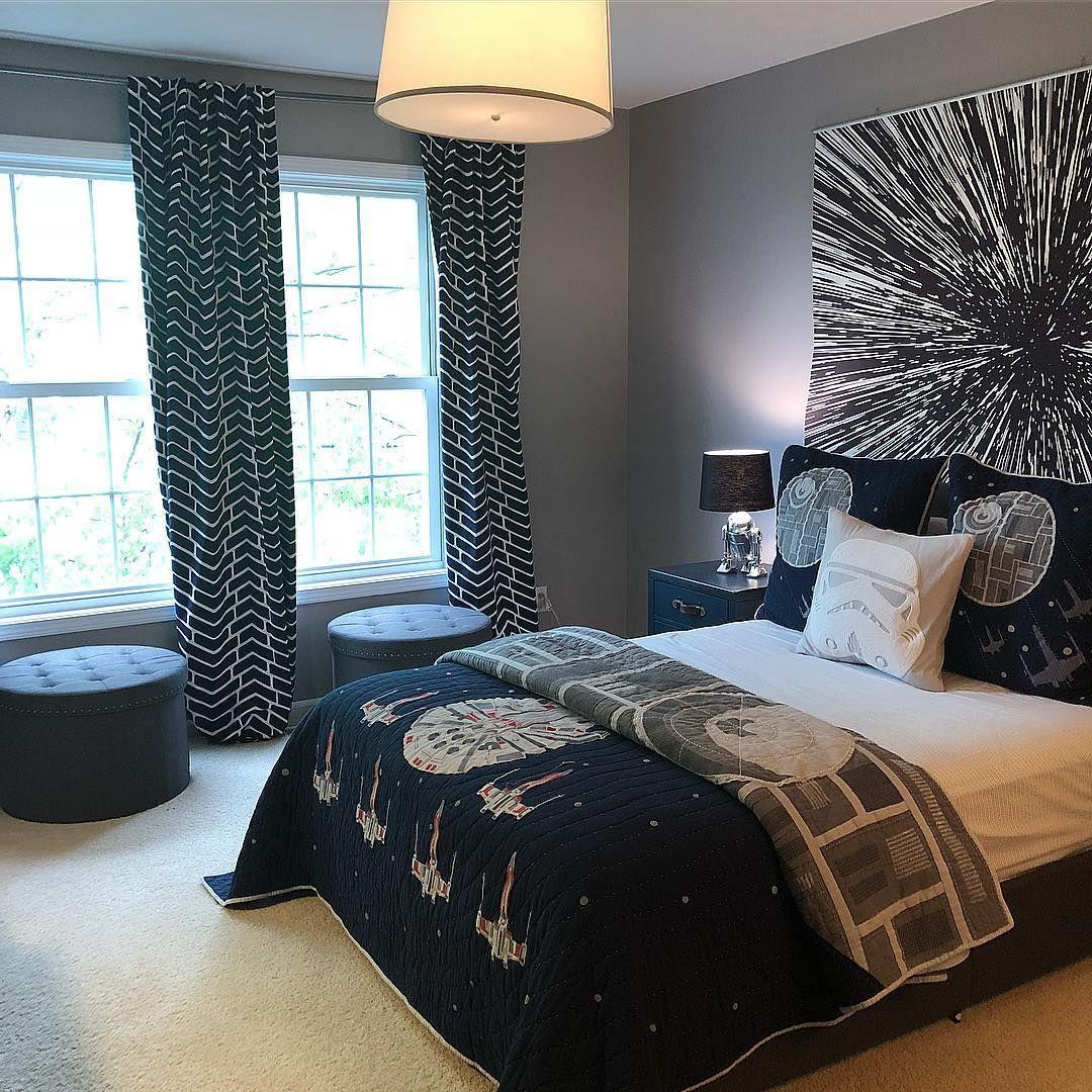 Farah Merhi On Instagram My Son S Starwars Themed Bedroom Star Wars Bedroom Star Wars Themed Bedroom Bedroom Themes